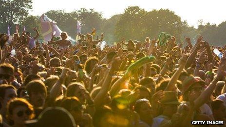 Music festival crowd (file pic)