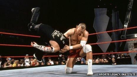 Chris Nowinski in WWE action