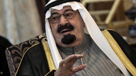 King Abdullah (file image)