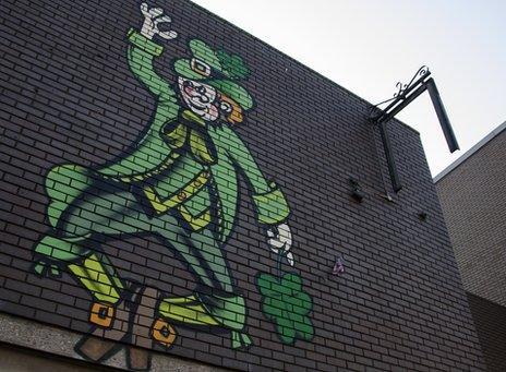 Irish mural in Digbeth
