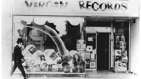 Virgin Records shop