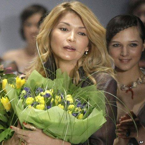 Gulnara Karimova at Moscow Fashion Week, 2011
