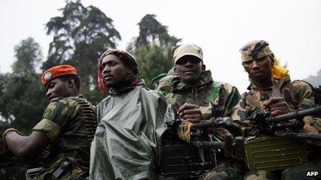 M23 rebels in DRC