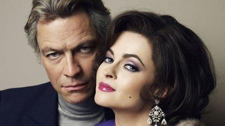 Dominic West and Helena Bonham Carter in Burton and Taylor