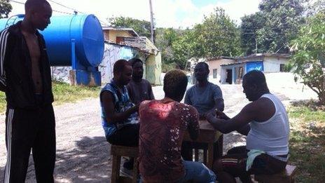 Rapper Cashtastic, real name Cashief Nichols in Jamaica