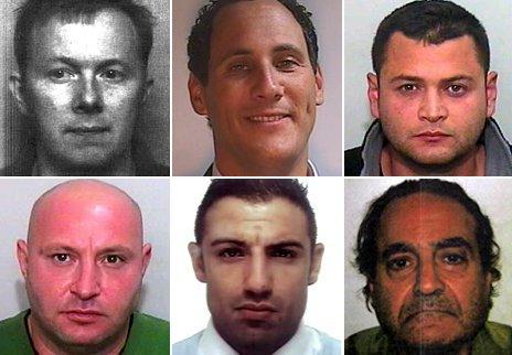 (Clockwise top left to bottom right) Jeffrey Bloor, Richard Ardolino, Osman Aydeniz, Christakis Philippou, Ersin Mustafa, Ozgur Demir.