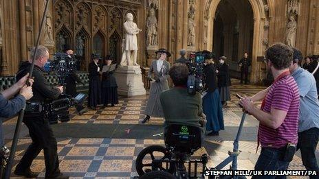 Filming of Suffragette