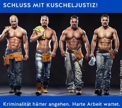 Junge Alternative poster showing four half-naked men