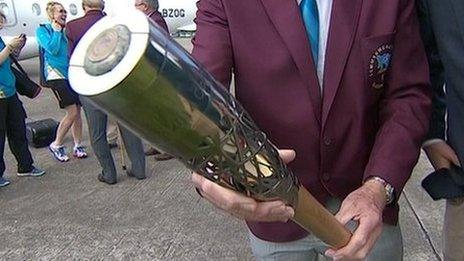 Commonwealth Games baton in Jersey
