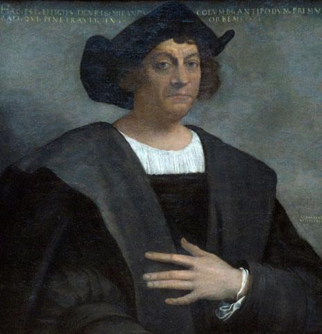 Christopher Columbus in a painting by Sebastiano del Piombo