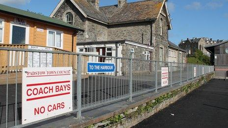 Padstow's railway station