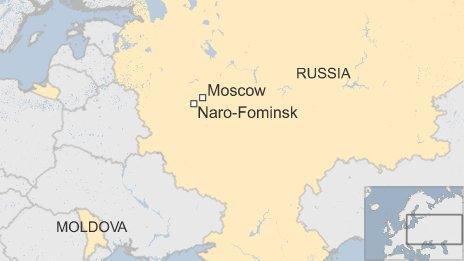 Map of Naro-Fominsh in Russia