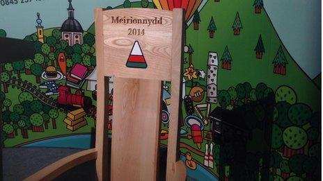 Cadair Eisteddfod yr Urdd Meirionnydd 2014