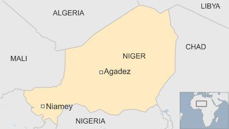 Map of Niger