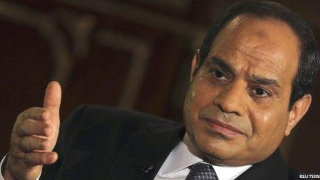 Abdul Fattah al-Sisi takes oath of office