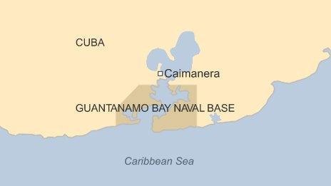 Map of Guantanamo Bay