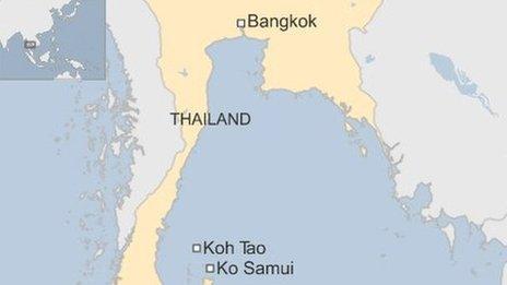 Gulf of Thailand map