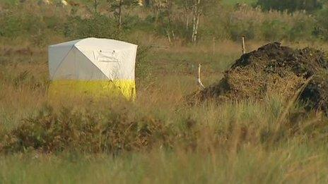 The remains were discovered in a drainage ditch on Oristown bog, near Kells