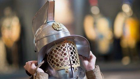 Replica gladiator helmet
