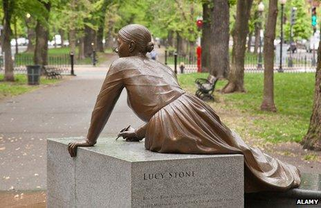 Lucy Stone in the Boston Women's Memorial