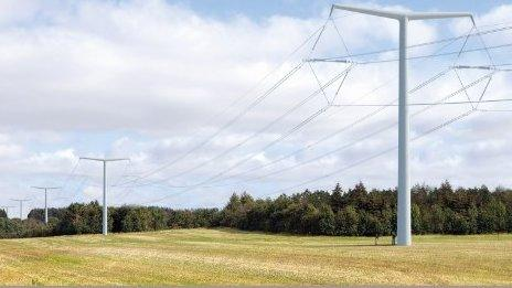 This pylon design is 25% shorter than the usual