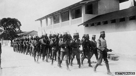 Locally recruited troops under German command