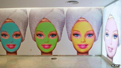 The entrance to the spa at the now closed Shanghai Barbie store