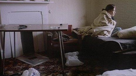 homeless girl in a B&B