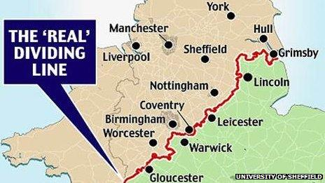 Dr David Bailey's dividing line between north and south