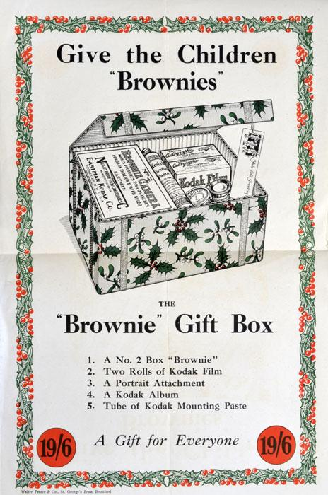 An advertisement for the Brownie