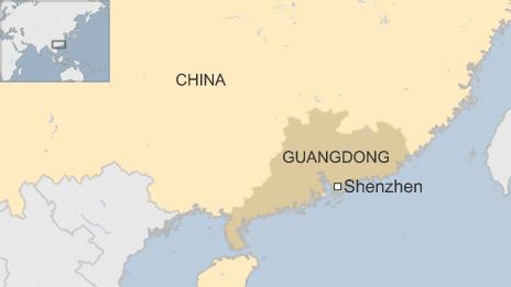 Map of Shenzhen