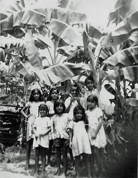 Singh children in the kampong