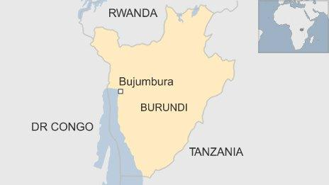 BBC map of Burundi