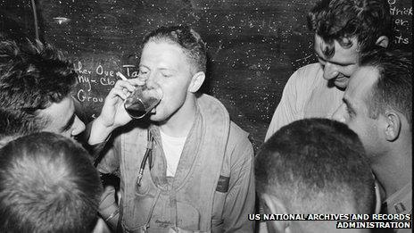 Soldiers drinking