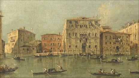 Francesco Guardi's View of the Palazzo Loredan dell'Ambasciatore on the Grand Canal, Venice