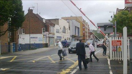 Cosham level crossing