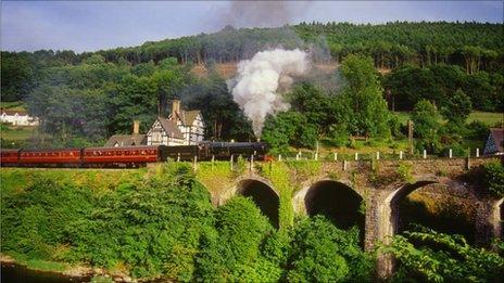 The Llangollen Railway at Berwyn station