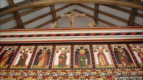 St Teilo's Church screen at St Fagans