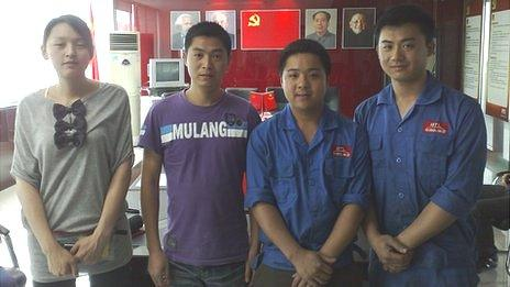 Employees of the Boteli Valve Group in Wenzhou