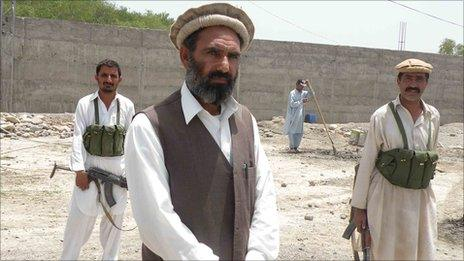 Haji Hashim Ali at the community housing project near Alizai town