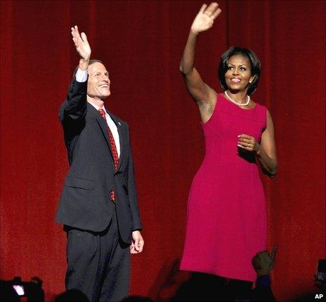 Richard Blumenthal and Michelle Obama