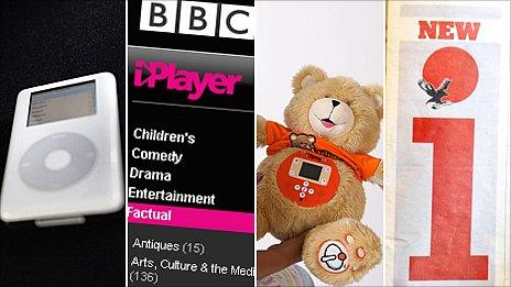 The iPod, iPlayer, iTeddy and the newspaper, i