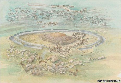 An artist's impression of how the site may have appeared in pre-historic times