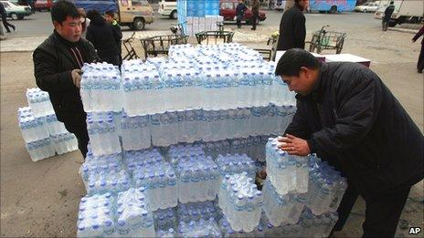 Bottled water in China