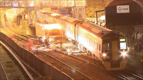 Train derailed near Welshpool