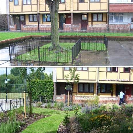 Before after pictures of Manchester Estate in Tower Hamlets