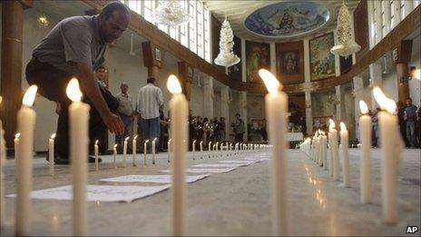 Memorial at Our Lady of Salvation in Baghdad - 7 November 2010