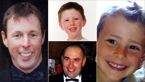Clockwise from left, Colin McRae, Johnny McRae, Ben Porcelli and Graeme Duncan