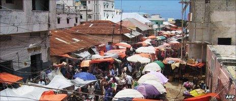 Mogadishu's Bakara market, photographed in 2007