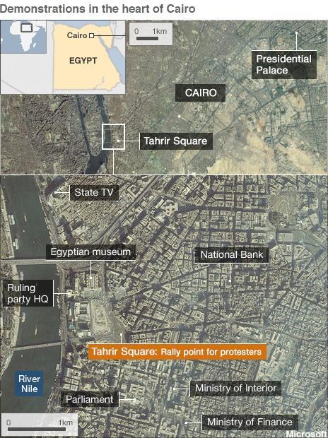 Cairo locator map